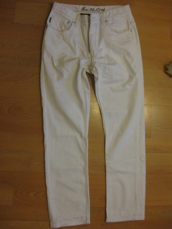 męskie spodnie C and A białe