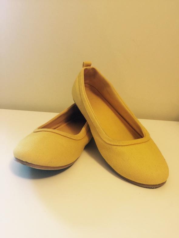 Baleriny balerinki żółte kanarkowe H&M 36