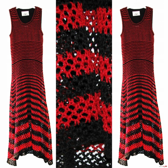 Szydełkowa sukienka marki Zara NOWa...