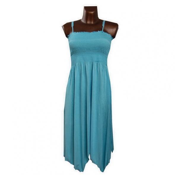 Letnia Niebieska Sukienka 38 M...