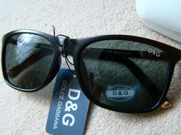 OKULARY D&G Dolce&Gabbana Nowe Gratis etui D&G skorzane
