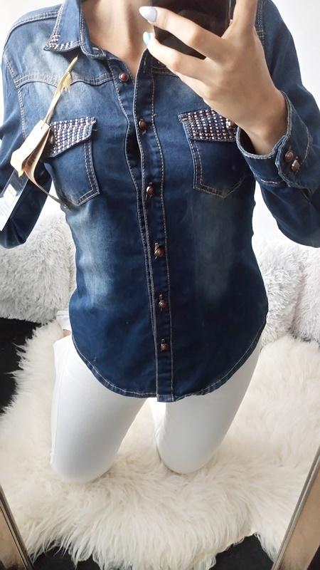 Koszulka jeansowa S 36 nowa