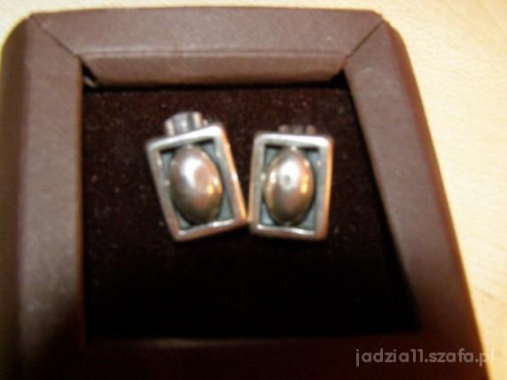 piękne srebrne klipsy