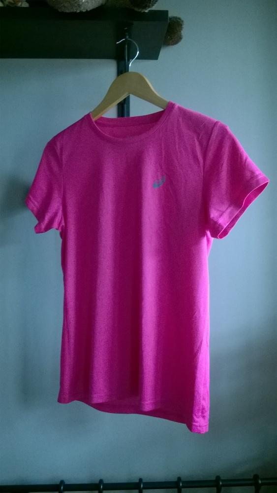 koszulka fitness różowa asics M oddychająca...