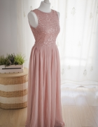 Długa zmysłowa suknia firmy LACE & BEADS idealna na wesele bal ...