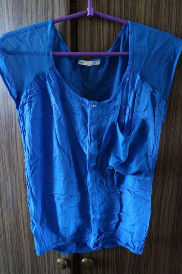 Niebieska bluzka mgiełka XS S...