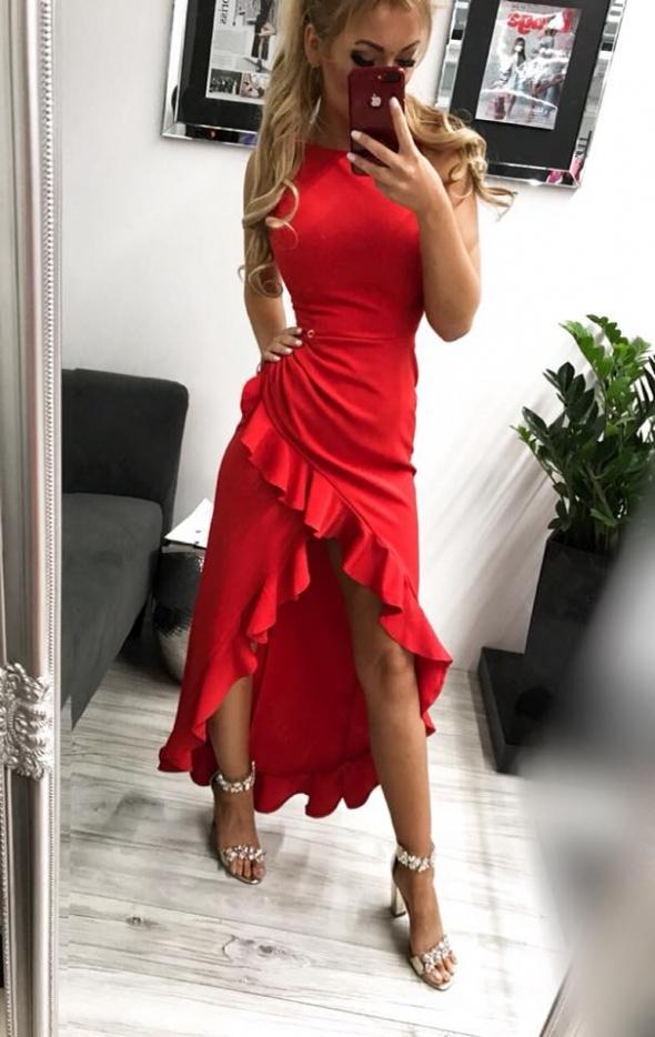 Sukienka czerwona Bella