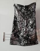 Czarno srebrno sukienka