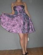 Sukienka PIN UP z kokardą XS S M