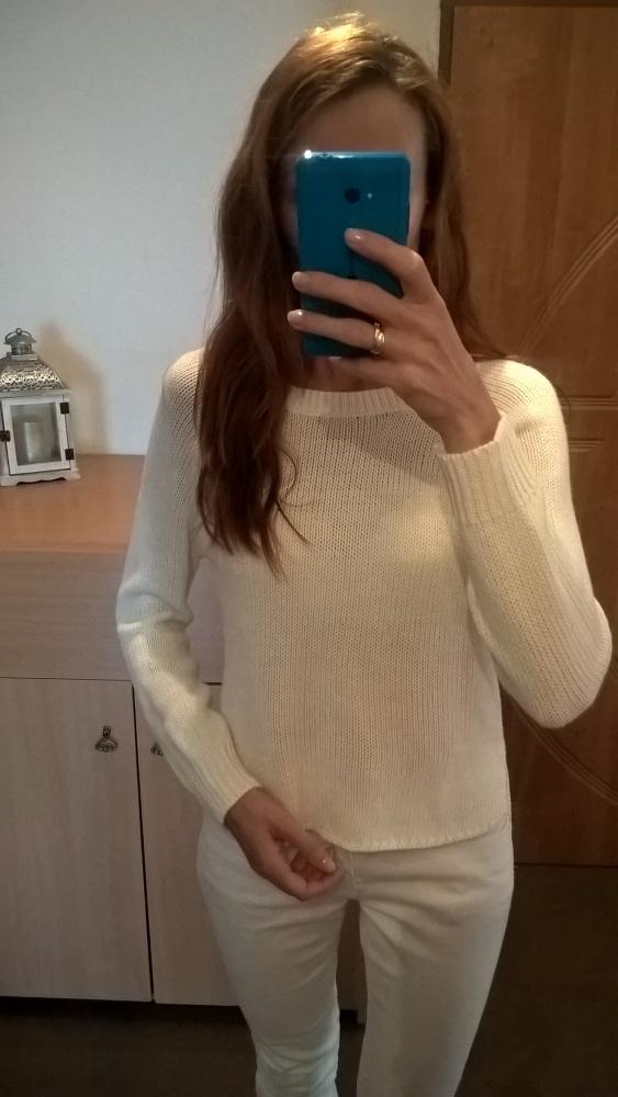 Biały sweterek S M