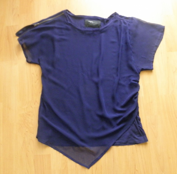 Granatowa asymetryczna bluzka Zara