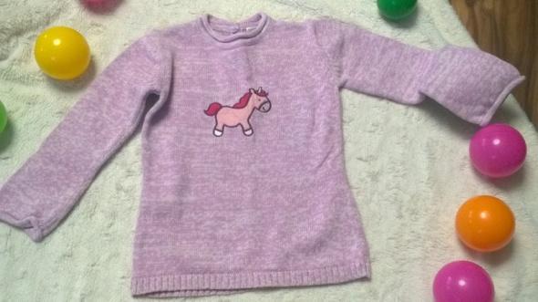 r 92 Różowy sweterek z jednorożcem CundA...
