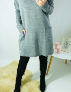 Sweter Lucy szary