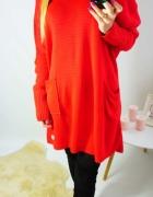 Sweter Lucy czerwony