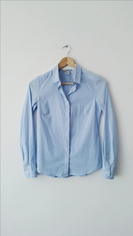 Blekitna koszula H&M w paski
