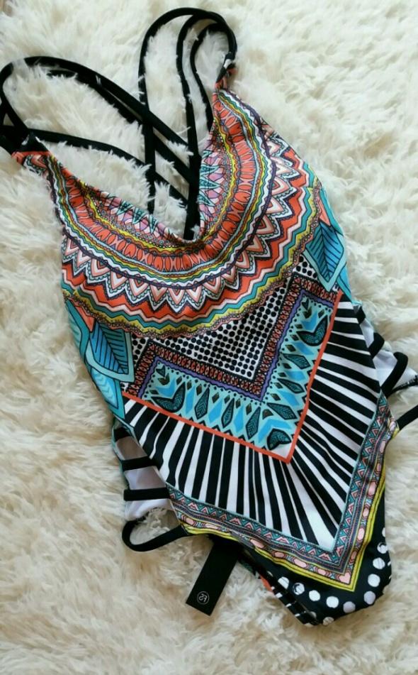 nowy strój kąpielowy By Asos FS 34 xs aztec