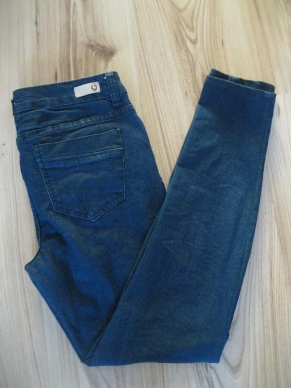 spodnie jeans rurki DIVERSE 38 granatowe...