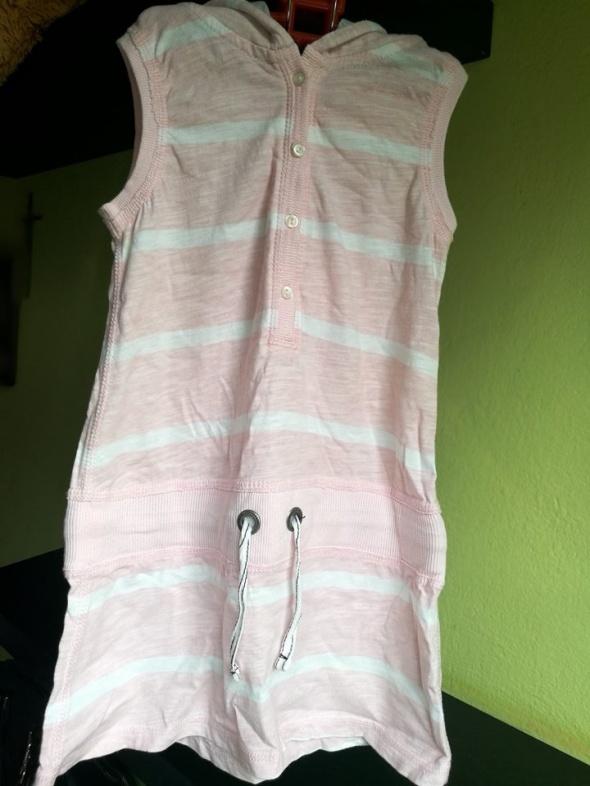 dresowa sukienka z kapturem H&M 110 116