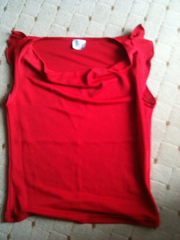 bluzka czerwona xs s...