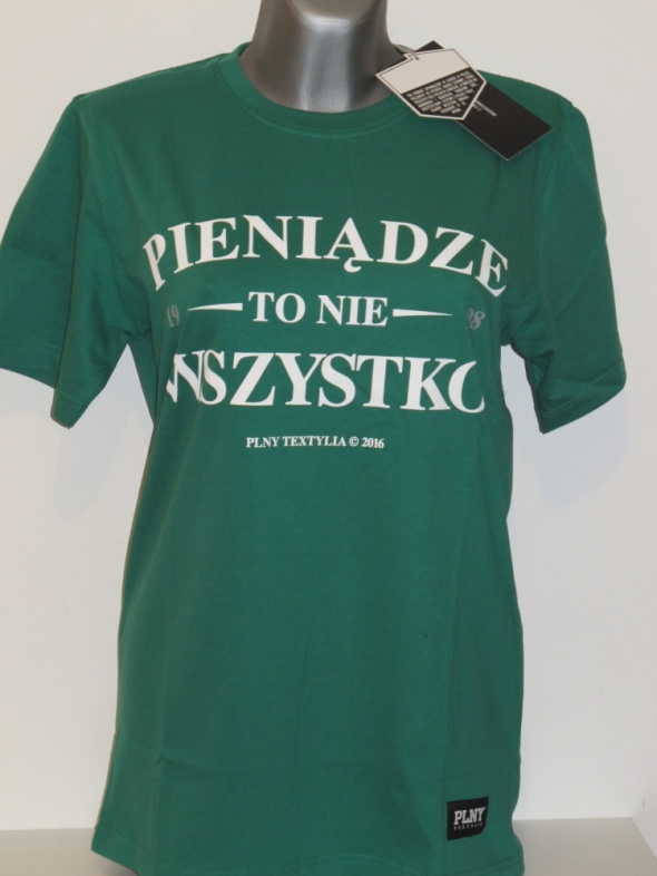 PLNY TEXTYLIA koszulka PTNW TS Green NOWA