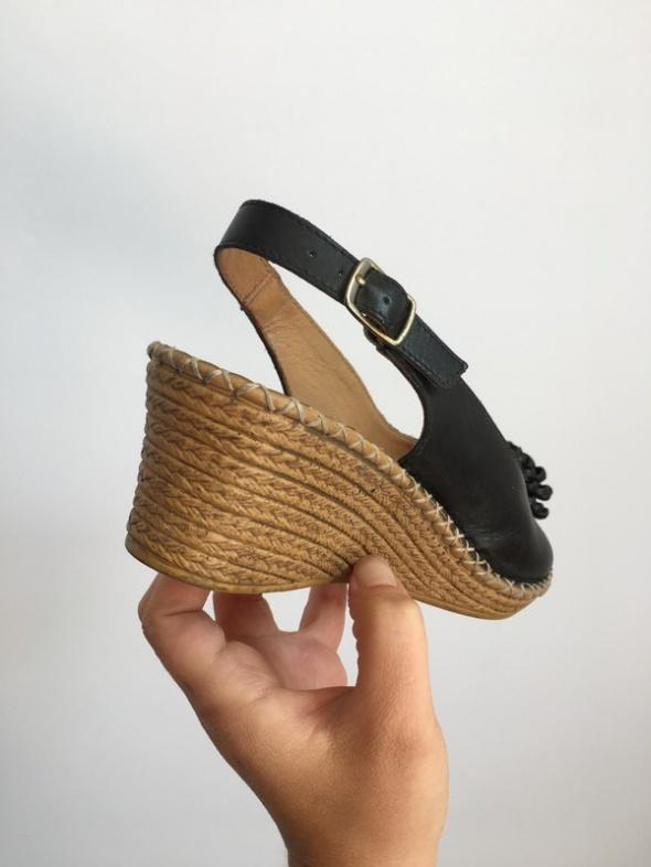 Lasocki koturny sandały skórzane czółenka na lato 37...