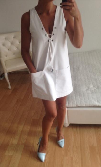 ZARA sukienka biała xs