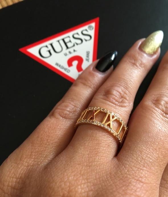 Nowy pierścionek Bvlgari stal cyrkonie model calen...