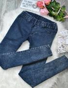 Dekatyzowane Marmurkowe Spodnie Jeansy Dżinsy Jegginsy Treggins...