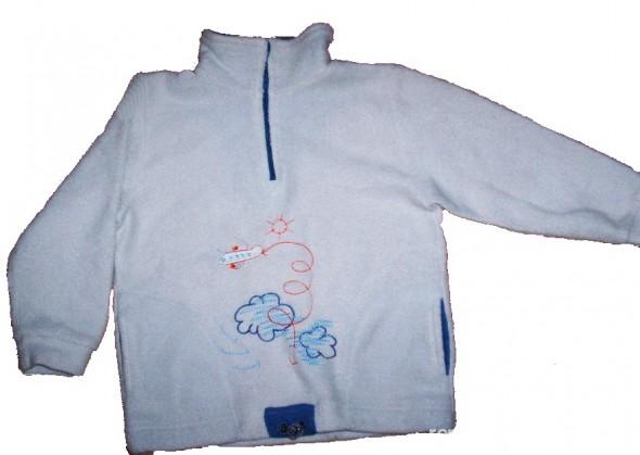 Bluza z polarka popielata roz 98