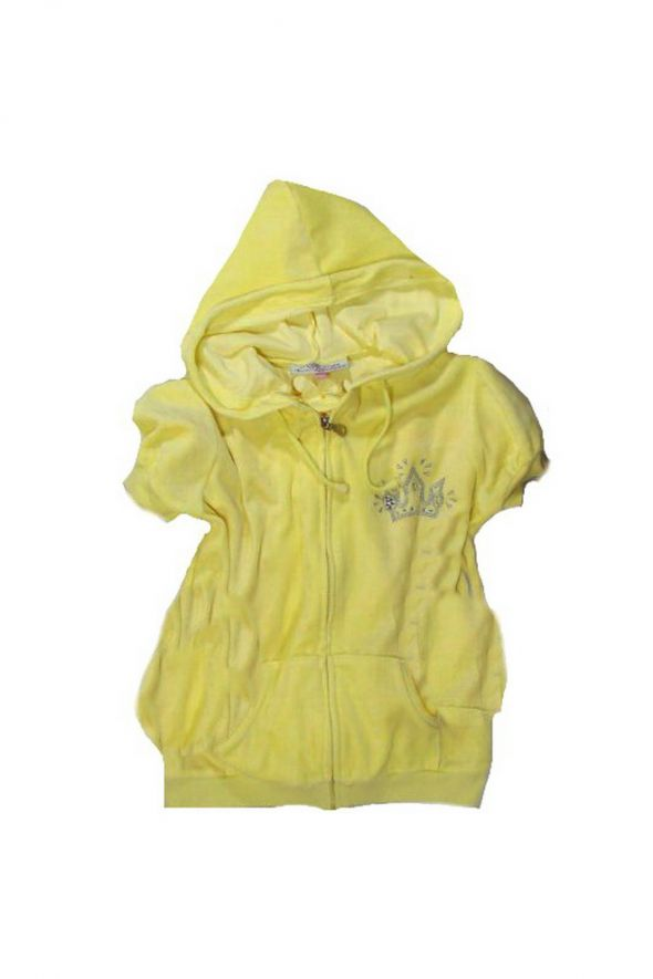 Welurowa cytrynowa bluza 140 146