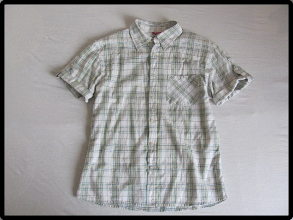 koszula męska DEEP M w kratkę podwijane rękawki
