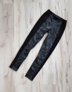 Czarne legginsy eko skóra zamsz H&M 36 S...