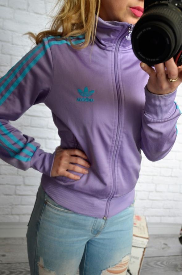 fioletowa bluza adidas sportowa...
