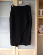 Ołówkowa kopertowa czarna spódnica midi River Island M L...