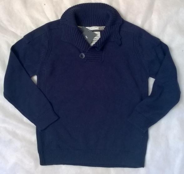 ZARA granatowy sweter 118 cm