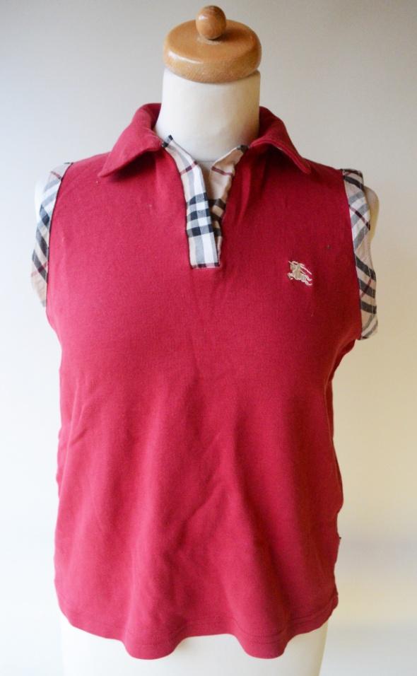 Koszulka Polo Czerwona Burberry XXL 44 Kratka...