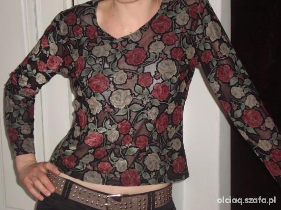 Bluzka przeswitujaca w roze