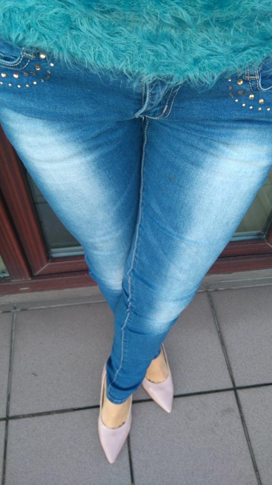 Spodnie jeansy rurki s