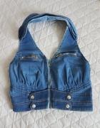 Kamizelka jeans zip bawełna...