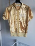 REDIAL złota bluza zip metaliczna...