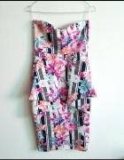 Evita sukienka bodycon kwiaty baskinka M...