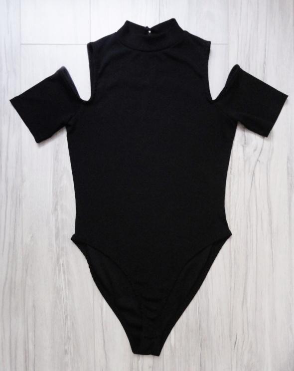 Czarne body półgolf odkryte ramiona rękaw New Look m l...