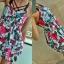 Sukienka kwiaty bombka asymetryczna S M...