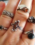 Stare srebrne pierścionki Warmet...