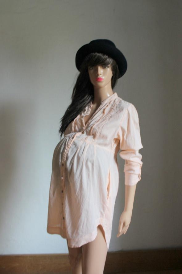 Morelowa koszula na długi rękawek odcinana pod biustem idealna ...