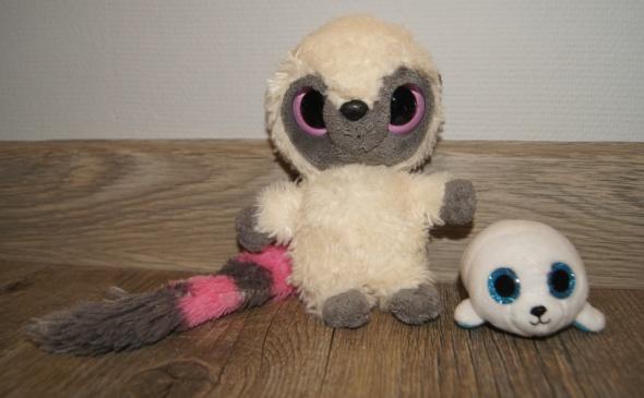 Maskotka przytulanka Lemur Foka duże oczy