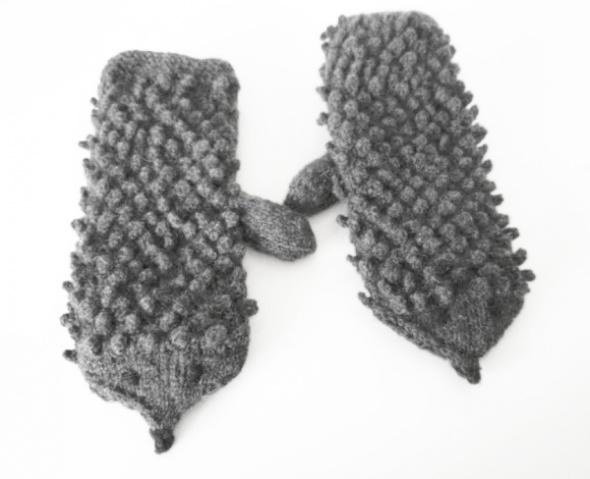 Rękawiczki z jednym palcem Jeżosławy z polarem...