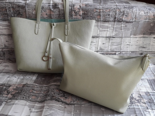 Miętowa shopper bag 2w1