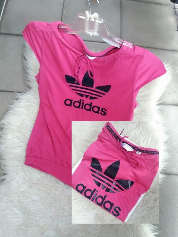 buzka koszulka adidas r s różowa czarne logo