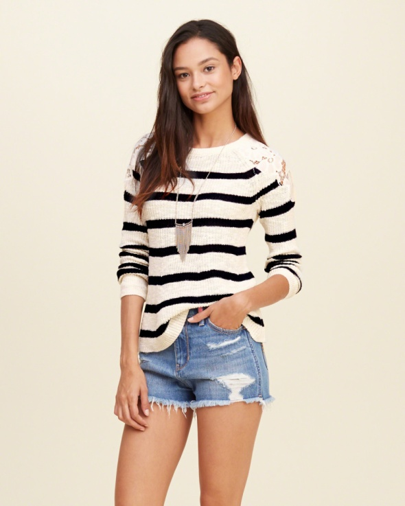 ABERCROMBIE&FITCH HOLLISTER NOWY SWETER SWETEREK L